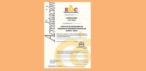 Ingite acreditado por ENAC